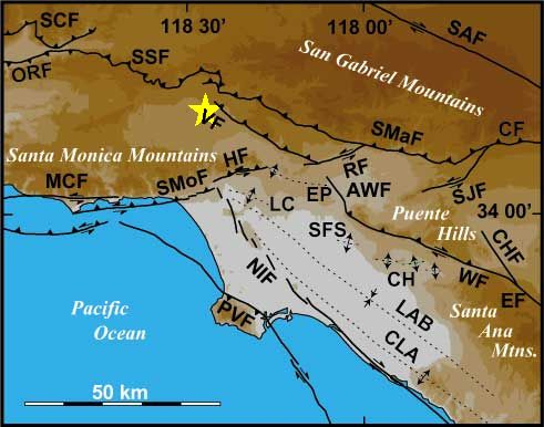 Los Angeles Active Fault Map