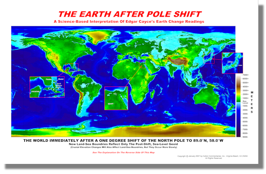 Pole Shift World Map.Hutton Commentaries Products